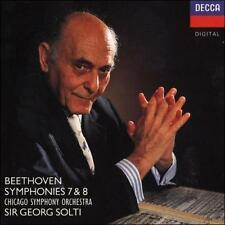 Beethoven: Symphonies 7 & 8 by Ludwig van Beethoven, Georg Solti, Chicago Symph