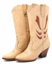 Vintage Wild Pair Cowboy Boots womens 6 leather Dress Heels boho hipster Western