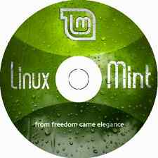 "Latest New Release Linux Mint 18 Cinnamon ""Sarah"" 32 or 64 Bit BOOTABLE DVD"