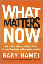 What Matters Now: How to Win in a World of Relentless Change, Ferocious Competit