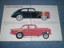 1973 Magazine Print Picture Article '40 Ford Sedan Hot Rod '55 Chevy Gasser
