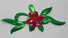 Extra large flower patches sequin applique patch motif iron on sew on trim