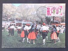 Andorra Mk 1963 la sardane popular baile costume maximum mapa maximum card mc cm d45