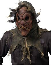 Halloween Gunny Sack Scarecrow Mask Natural Spooky Pumpkin Cornfield Butcher Red