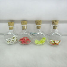 Blythe Momoko 1/6 Bjd Food Miniature Fruit Slice in Glass Bottle 4pcs - Set F