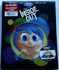 NEW DISNEY PIXAR INSIDE OUT BLU RAY + DVD 2 DISC BEST BUY EXCLUSIVE COVER CARDS
