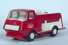"""Vintage Tiny Tonka 595 Red Fire Engine Pumper Truck Pressed Steel 6"""" Scale Model"""