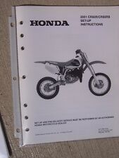 2001 Honda Motorcycle Scooter CR80R CR80RB Set Up Manual with Wiring Diagram L