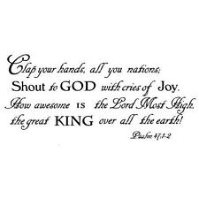 Clap your hands, Shout to God unmounted rubber stamp #6, Christian bible verse