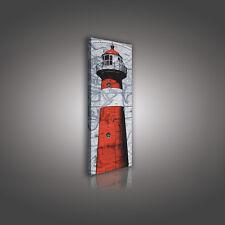 CANVAS WANDBILD LEINWANDBILDER POSTER BILD FOTO Rot Leuchtturm Kunst 3FX10017O3