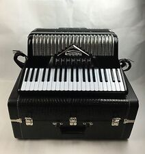 BEAUTIFUL Black Lindo Imperial Full Size #6536 Accordion Italy Hardshell Case