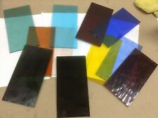 "WATERGLASS 4"" X 8"" TWELVE pieces STAINED GLASS or Mosaics EXACT pieces"