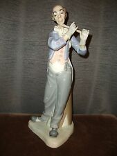 """LLADRO Nao ZAPHIR 16"""" Musician Clown with Flute #581 Signed by Artist Jose Puche"""