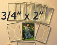 (( Box of 30 )) 3/4 x 2 Clear Rectangle Bevels Flat Back and Beveled Top