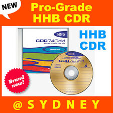 NEW HHB CDR-74 Gold Pro-Grade 650MB/74 Min Recordable Blank CD Compact Disc