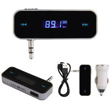 3.5mm Wireless FM Transmitter Radio Adapter for iPhone Smartphones W/Car Charger