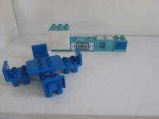 Lego Duplo House Home Kitchen Lot Set Table, Refrigerator, Sink, Cabinet Chairs