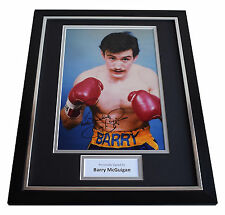 Barry McGuigan SIGNED FRAMED Photo Autograph 16x12 display Boxing AFTAL & COA