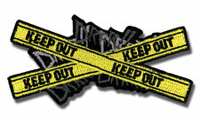 **License** Durarara SD Keep Out Logo Symbol Iron On Patch new sealed