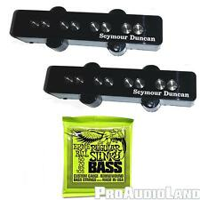 Seymour Duncan SJB-3 Quarter Pound Jazz Bass Pickup Set+Ernie Ball Strings