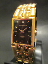 B1 NEW JB CHAMPION Gold Dress Stainless Steel Band WATCH Square VINTAGE Dress