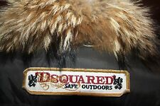 $2K DSQUARED2 WOMEN'S RACCOON FUR GOOSE DOWN BROWN JACKET SIZE 40