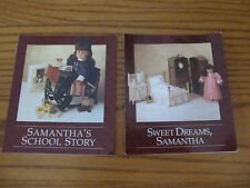 American Girl Samantha Sweet Dreams & School Story Pamphlet Lot  Free Shipping