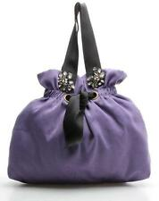 Vera Wang Lavender Label Purple Nylon Jeweled Tote Bag