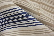 Vintage European mattress daybed cover duvet cover homespun BLUE stripes