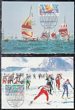 A-21)Germany Sports Aid Foundation: Sailing and Cross-Country Skiing