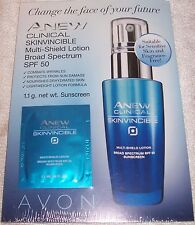 AVON! Anew Clinical SKINVINCIBLE Multi-Shield Lotion. Anti-Aging SAMPLES. UNISEX