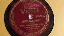 Bruno Walter  - 78rpm single 12-inch –  Victor #12526 Titus Overture