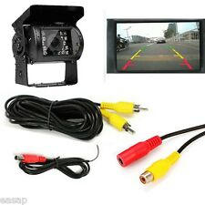For Truck Bus 18 IR LED Night Vision Car Rear View Reverse Backup Camera 12-24V