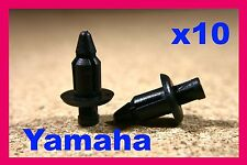 10 YAMAHA Motorcycle motor bike Fairing panels Trim Push Fit Rivet Clips 6mm