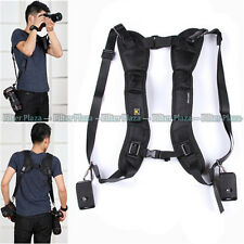 Quick Rapid Double Dual Shoulder Sling Belt Strap for 2/Two DSLR Digital Cameras