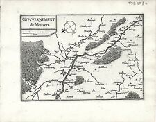 Antique maps, gouvernement de mouzon