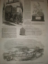 The new town of Dumbarton 1853 old print ref T