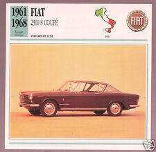 1961-1968 Fiat 2300 S Coupe Car Photo Spec Sheet Info Stat French Atlas Card