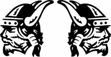 Viking Head Face Car,Camper Van 4x4 Bodywork Window Sticker Decals LSV1M