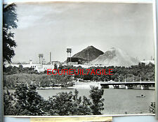 GRANDE PHOTO 1958 UKRAINE TERRILS MINE DE CHARBON