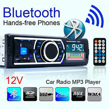 Bluetooth Stereo Car Audio 1 DIN Vehicle In-Dash FM Aux Input SD USB MP3 Radio