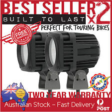 2 x CREE LED MOTORBIKE SQUARE DRIVING LIGHT FLOOD BEAM BMW TRIUMPH SUZUKI