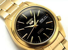 Seiko 5 Men's SNKL50K1 Stainless Steel Automatic Gold Tone Day Date Watch