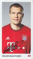 HOLGER BADSTUBER HAND SIGNED BAYERN MUNICH CLUB CARD PHOTO 15/16.