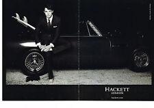 PUBLICITE ADVERTISING 114  2008  HACKET  LONDON pret à porter homme ( 2p)