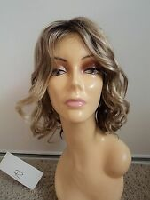 JON RENAU Beach Waves Synthetic Lace Front Wig, Large Cap, Blonde 12FS8,