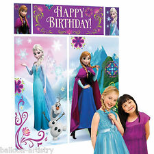 Disney's FROZEN Classic Birthday Party Scene Setter Wall Decoration Kit