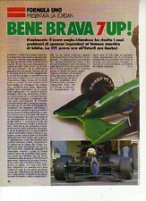 W18 Ritaglio Clipping 1991 Formula 1 Jordan 191 7up