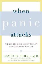 WHEN PANIC ATTACKS New Drug free Anxiety Therapy David Burns book anxiety stress