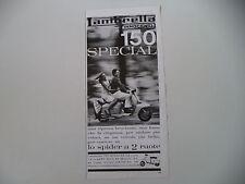 advertising Pubblicità 1964 LAMBRETTA 150 SPECIAL
